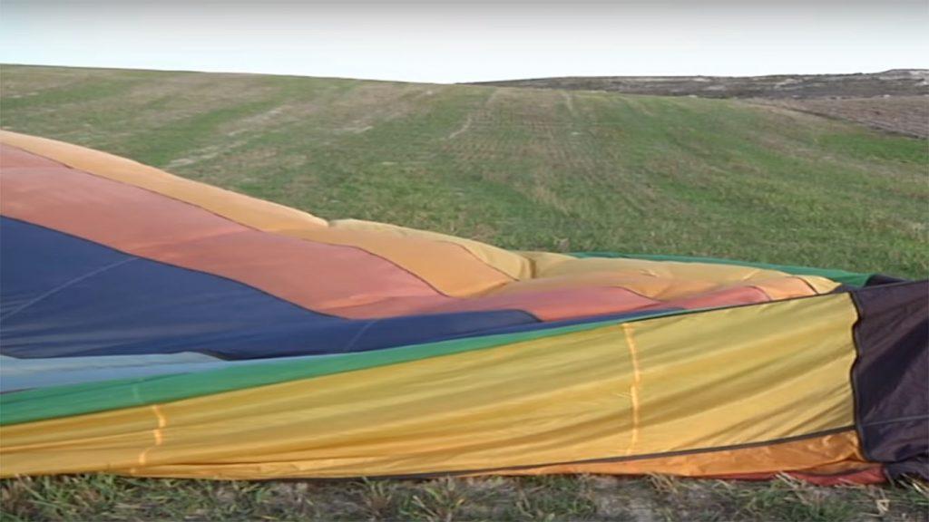 malla del globo aerostatico