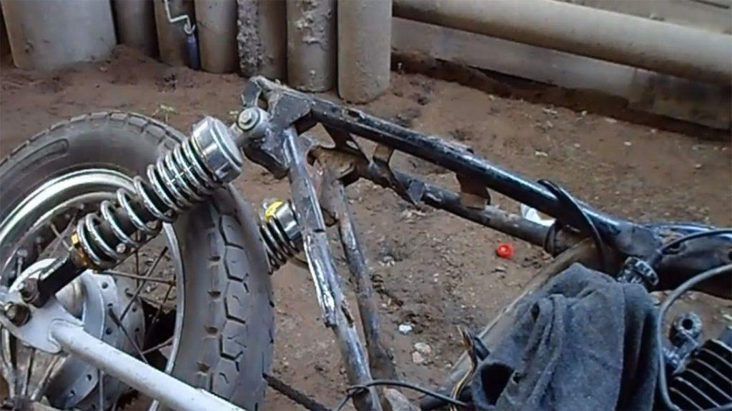 chasis de la motocicleta
