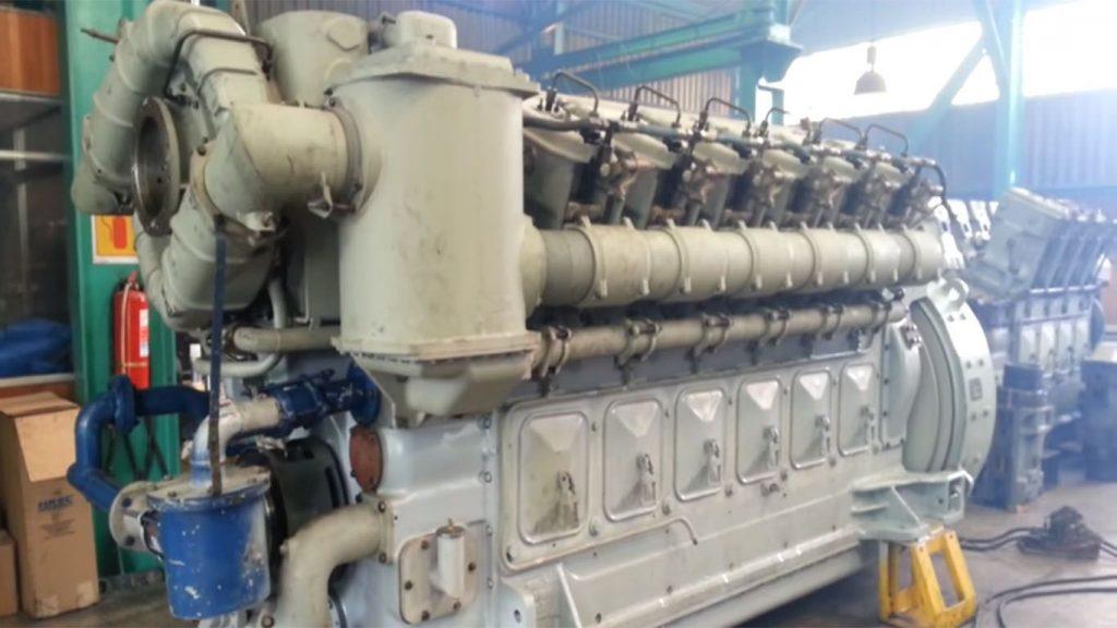 motor del ferrocarril