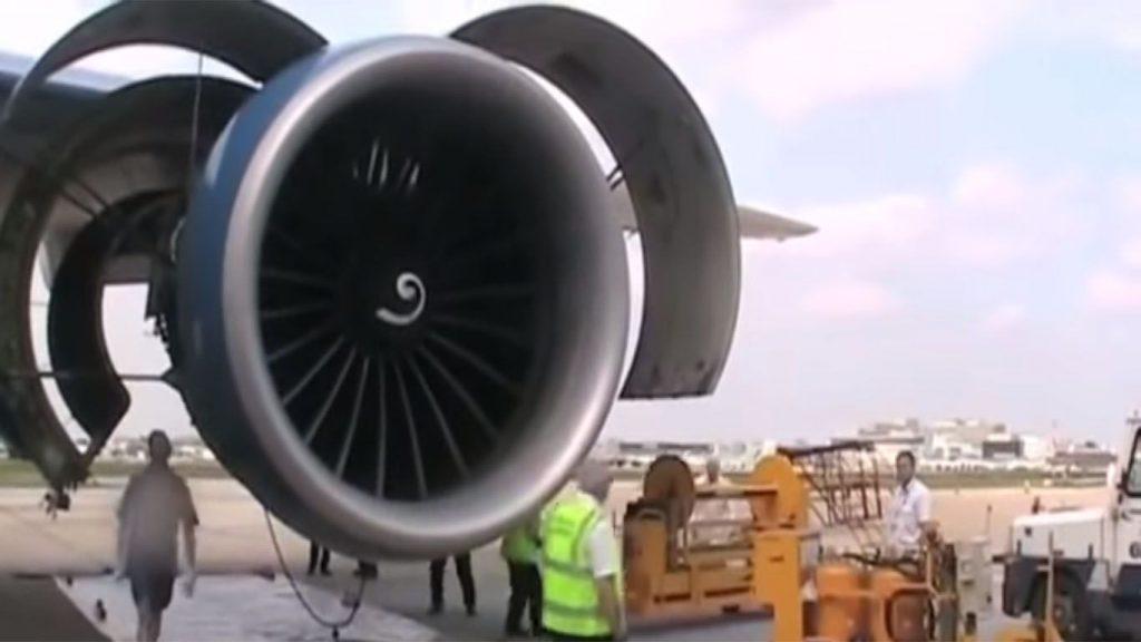 motor de una aeronave