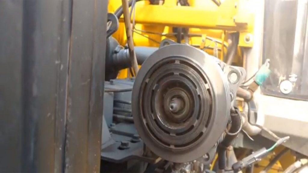 las poleas de un tractor