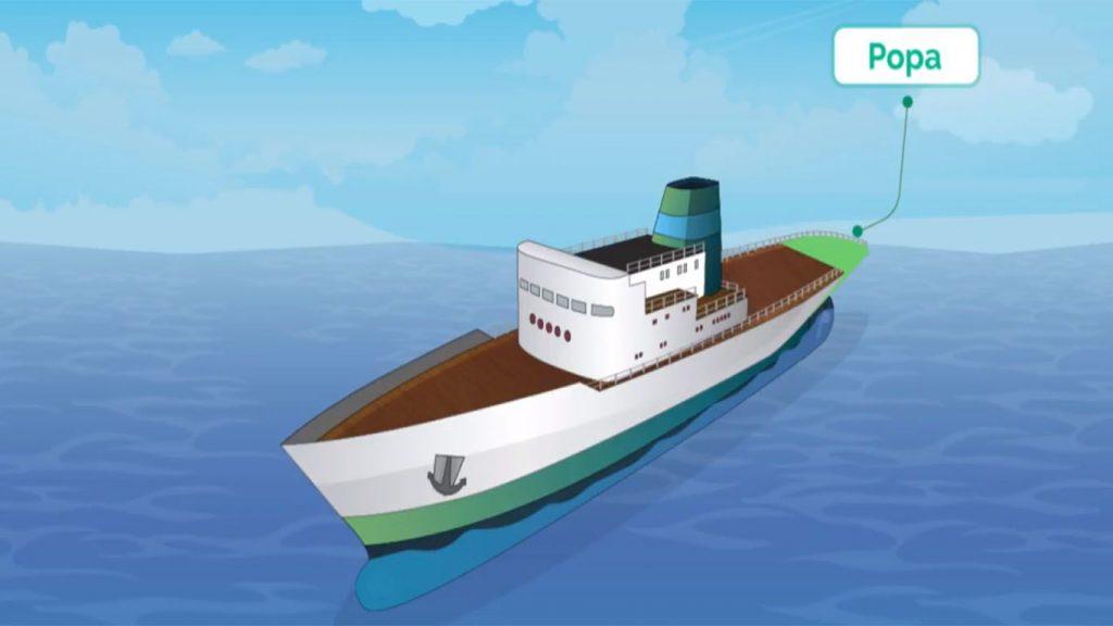 la popa de un barco