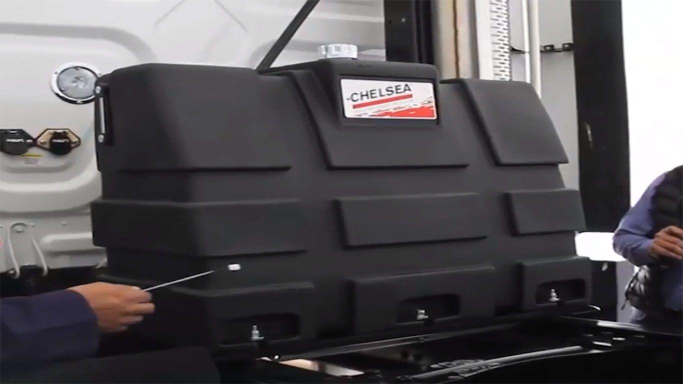 sistema hidraulico de un camion
